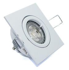7er Set Bad Deckenstrahler Quajo & GU10 LED-Leuchtmittel Spots 5W DIMMBAR 230V