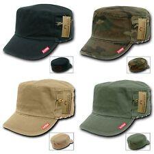 1 Dozen Flat Top Zipper BDU Fatigue Cadet Military Fitted Caps Hats Wholesale