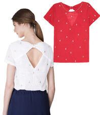 Grace & Mila Paris Pineapple Embroidery Mignon Fine Tshirt Top Sz S-L UK 8-12