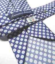 CRAVATTA seta Sette Pieghe uomo top quality MADE ITALY blu cravatte fatte a mano