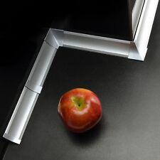 23mm PVC 1,5m - 3m ALLUMINIO ARGENTO CUCINA ALZATINA spuntata stecca guarnizione