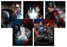 Captain America Civil War: Iron Man Vision A5 A4 A3 Textless Movie & DVD Posters