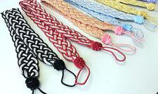 Par (2 piezas) trenzado cuerda trenzada con sedoso Ancho Grande Cortina amarre para Holdbacks