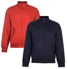 Harrington Jacket New Classic Retro Bomber Mod Skin Scooter Coat Red & Navy Blue