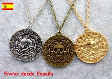 Collar con colgante Medalla Azteca Piratas del Caribe  (3 tonalidades)