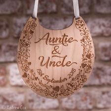Personalised Auntie and Uncle Good Luck Wedding Horse Shoe Wild Flowers Keepsake