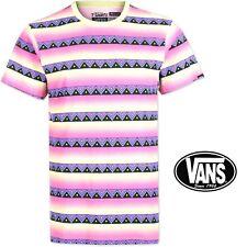 Vans Para Hombre Rosa Erupción Camiseta Camiseta Mangas Cortas Casual sin seguimiento post-Raro