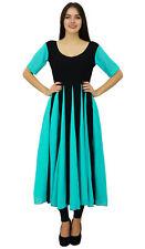 Bimba Chic Designer Dress Long Georgette Kurta Flaired Zig-Zag Party Wear Kurti