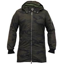 Camo hommes veste longue Brave Soul à Capuche MAC Trench-coat militaire armée