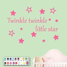 Twinkle Twinkle Little Star Sticker - Wallart, Childrens, bedroom, decal
