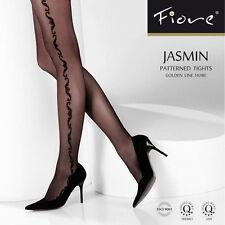 Collant fantaisie motif sur coté de la jambe référence Jasmin de la marque Fiore