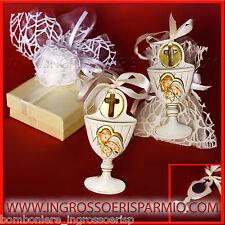 Bomboniere Sacra Famiglia Calice MAGNETE e APPENDINO Comunione Battesimo Cresima