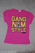 Girls TEE Shirt GANGNAM STYLE PINK Short Sleeve M 7-8  L 10-12  XL 14-16