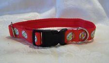 El collar de perro de inspiración Flash DC o perros de plomo rojo mediano/grande