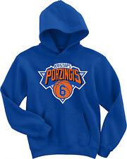 "Kristaps Porzingis New York Knicks ""Logo""  Hooded SWEATSHIRT HOODIE"