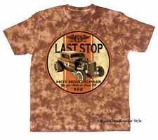 T-shirt Batique marron vintage hot rod voiture US & `50 MOTIF STYLE Modèle Last