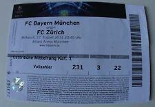 OLD TICKET CL Bayern Munchen Germany FC Zurich Switzerland Suisse
