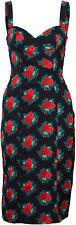 Küstenluder trista vintage floral rosas Rose 40s Pencil dress vestido rockabilly