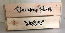 Dancing Shoes with Rose Vinyl Sticker Bundle - DIY Wedding Box/Crate
