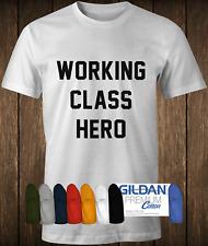 COTONE PREMIUM CLASSE OPERAIA Eroe Tee INDOSSATA DA JOHN LENNON dei BEATLES T-shirt.