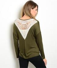 Olive Ivory Crochet Lace Back Cardigan