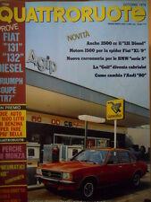 Quattroruote 275 1978 - FIAT 131 & 132 Diesel - Triumph Coupè TR7   [Q40]