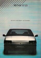 Renault 25 Boutique Accessories 1985-86 UK Market Foldout Sales Brochure