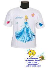 tee shirt fille princesse cendrillon personnalisable prénom réf 135