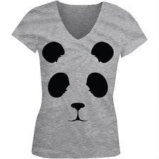Panda Bear World Wildlife China Giant Ling Zoo Endangered Juniors V-Neck T-Shirt