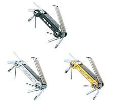Topeak Mini 9 Pro mini moto/Multifunción herramienta, Negro o Plata o Oro