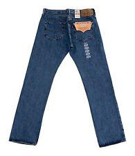 Levis 501 Mens Jeans Button Fly Blue Dark Medium Light Stonewash 32 34 36 38 40+