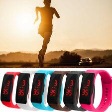 Sport LED Digital Display Bracelet Watch Children Silica Gel Wrist Watch