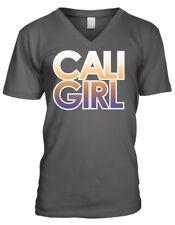 Cali Girl California OC Beach Woman Californians Surfer CA Men's V-Neck T-Shirt
