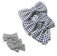 Papillon uomo bianco a pois blu o neri cravatta a farfalla di seta made in Italy