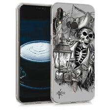 Custodia Cover Morbida INKOVER per Huawei Pirates 2 Corsair Skull Caribbean Art