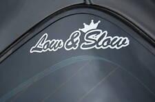 LOW&SLOW Sticker Decal Vinyl JDM Euro Drift Lowered illest Fatlace