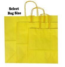 AMARILLO Bolsas de papel de Regalo ~ Tienda Boutique Bolsa Fiesta ~ escoge