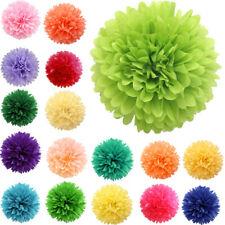 5PC 13/20/25CM Tissue Paper Pom Pom Flower Balls Wedding Party Shower Decor