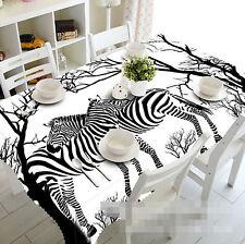 3D Zebra 4 Tischdecke Tischdecke Tuch Geburtstagsfeier Event AJ WALLPAPER DE