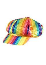 Fancy Dress Rainbow Sequin Cap Gay Pride LGBT Hat Festival Packs of 5/10/15/20
