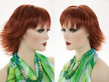 Mid Length Blonde Brown Red Straight Razor Cut Shag Wig