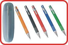 STYLO BILLE en métal + ETUI avec GRAVURE personnalisée 5 couleurs au choix