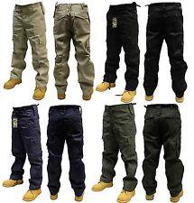 Da Uomo Combat Cargo Pantaloni / Pants Nero Beige Navy Oliva 30-50 Girovita 32 & 30 Gamba