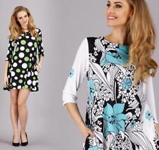 Mini-Kleid Tunika Muster Punkte, Keise Blumen Gr. 36 38 , S M, M95