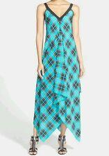 NEW! Michael Kors Plaid Scarf Print Maxi Handkerchief Dress S/M-L/XL