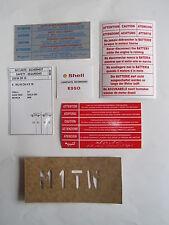 AUTOCOLLANTS (5) COMPARTIMENT MOTEUR PEUGEOT 405 + PRESSION DES PNEUS+ POCHOIR