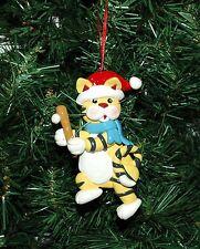 Cat, Kitten Baseball Christmas Ornament