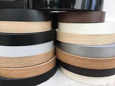 Melamine iron on pre glued edging Tape/Edge various colours 22mm,30mm,40mm,50mm