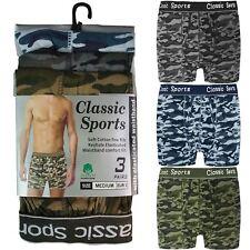 12 Pack para Hombre Camuflaje Ejército Algodón Calzoncillos Boxer Clásicos Tallas S M L XL 2XL Lote