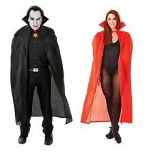 Disfraz Capa de Drácula Unisex Adulto Halloween Negra Roja 56 pulgadas